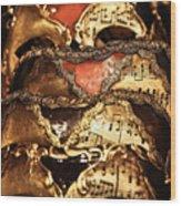 Masquerade Ball Wood Print