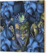 Masquerade Blues Wood Print