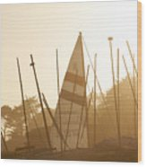 Mass Of Ships Wood Print