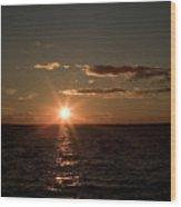 Massachusetts Bay Sunset Wood Print