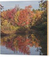 Massachusetts Color Wood Print