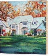 Massachusetts Home Wood Print