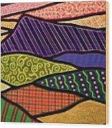 Massanutten Sunset Wood Print