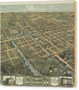 Massillon Ohio 1870 Wood Print