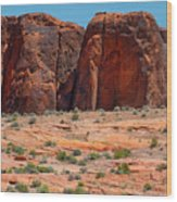 Massive Sandstone Cliffs Valley Of Fire Wood Print
