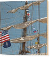 Mast Flags Wood Print