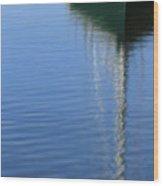 Mast Reflections Wood Print