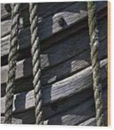 Mast Rigging Wood Print