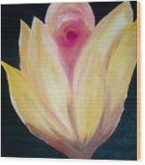 Mastard Flower Wood Print