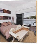 Master Bedroom With A View Wood Print