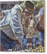 Master Chess Player Wood Print
