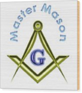 Master Mason In White Wood Print