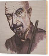 Master Of Flute Wood Print