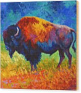 Master Of His Herd Wood Print
