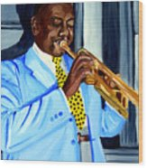 Master Of Jazz Wood Print