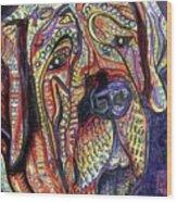 Mastiff Wood Print by Robert Wolverton Jr