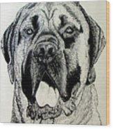 Mastiff Wood Print