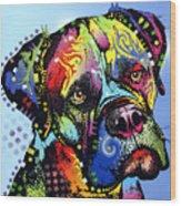 Mastiff Warrior Wood Print