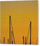 Masts Wood Print