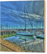 Masts Without Sails Wood Print by Dale Stillman