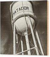 Matador Texas Water Tower Wood Print