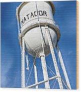 Matador Water Tower Wood Print