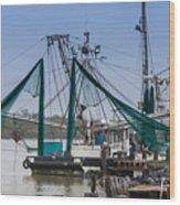 Matagorda Fishing Boats Wood Print