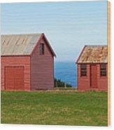 Matanaka Historic Site - Red Barn Wood Print