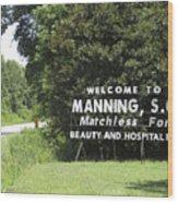 Matchless Manning Wood Print