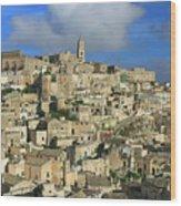 Matera Italy Wood Print