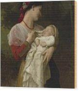Maternal Administration Wood Print