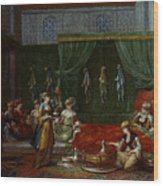 Private Chamber Of An Aristocratic Turkish Woman Wood Print