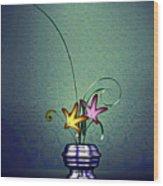 Math Flower 5 Wood Print