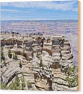 Mather Point At The Grand Canyon Wood Print by Julie Niemela