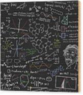 Maths Formula Wood Print