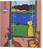 Matisse's Cat Wood Print
