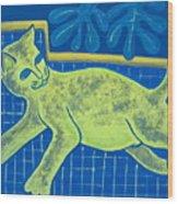 Matisse's Cat In Reverse Wood Print