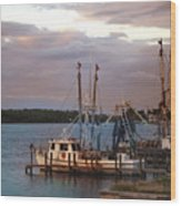 Matlacha Florida Sunset Wood Print