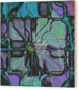 Matrices In Glass Houses Wood Print
