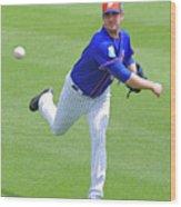 Matt Harvey New York Mets Wood Print