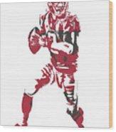 Matt Ryan Atlanta Falcons Pixel Art 5 Wood Print