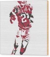 Matt Ryan Atlanta Falcons Pixel Art 6 Wood Print