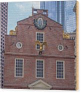 22- Matt V. Group At The Old State House In Boston, Massachusetts On August 26, 2016 Wood Print