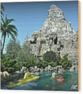 Matterhorn And The Sub Wood Print