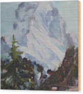 Matterhorn At 8 Pm Wood Print