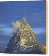 Matterhorn Mountain At Sunrise, Close Up Wood Print