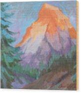 Matterhorn Sunrise Wood Print
