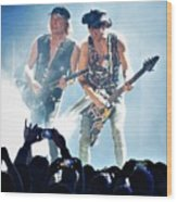 Matthias Jabs And Rudolf Schenker Shredding Wood Print
