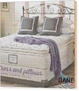 Mattress And Pillows Wood Print