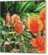 Maui Floral Wood Print